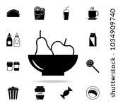 fruit plate icon. detailed set... | Shutterstock .eps vector #1034909740