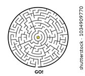 round maze puzzle isolated on... | Shutterstock .eps vector #1034909770