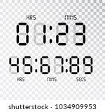 digital clock. calculator... | Shutterstock .eps vector #1034909953