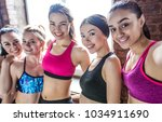 multi ethnic group of young... | Shutterstock . vector #1034911690