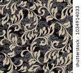 vector vintage baroque card.... | Shutterstock .eps vector #1034914033