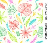 seamless pattern from hand ... | Shutterstock .eps vector #1034919340