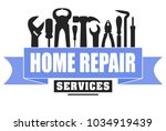 home repair services vector... | Shutterstock .eps vector #1034919439