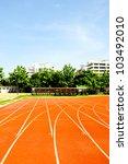running track in sport stadium | Shutterstock . vector #103492010