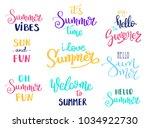 summer letterings hand drawn... | Shutterstock .eps vector #1034922730