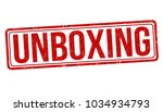 unboxing grunge rubber stamp on ... | Shutterstock .eps vector #1034934793