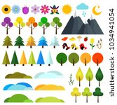landscape constructor in flat... | Shutterstock .eps vector #1034941054