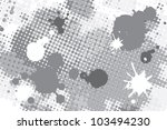 halftone black and white spot... | Shutterstock .eps vector #103494230