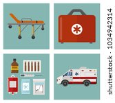 ambulance icons medicine health ... | Shutterstock .eps vector #1034942314