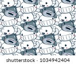 seamless pattern  funny cartoon ... | Shutterstock .eps vector #1034942404