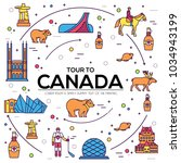 country canada travel vacation... | Shutterstock .eps vector #1034943199