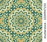 hand drawn ornamental seamless... | Shutterstock . vector #1034947153