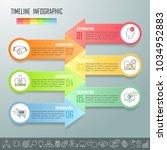timeline business concept... | Shutterstock .eps vector #1034952883