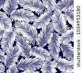 tropical plants pattern  i...   Shutterstock .eps vector #1034953180