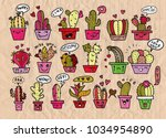 freehand vector drawing  cute... | Shutterstock .eps vector #1034954890