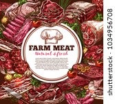 fresh meat sketch poster for... | Shutterstock .eps vector #1034956708
