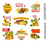 mexican cinco de mayo fiesta... | Shutterstock .eps vector #1034958079