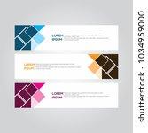 banner background.modern... | Shutterstock .eps vector #1034959000