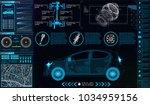 car infographics. hud for the... | Shutterstock .eps vector #1034959156
