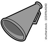 megaphone illustration   a... | Shutterstock .eps vector #1034964040