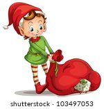 illustration of a christmas elf | Shutterstock .eps vector #103497053