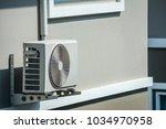 air condition outdoor unit... | Shutterstock . vector #1034970958