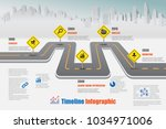 business road map timeline... | Shutterstock .eps vector #1034971006