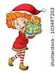 illustration of a christmas elf | Shutterstock .eps vector #103497203