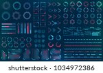 set hud interface elements  ... | Shutterstock . vector #1034972386