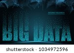 text big data  concept design... | Shutterstock . vector #1034972596