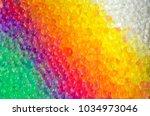 rainbow of water beads | Shutterstock . vector #1034973046