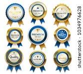premium commercial golden ... | Shutterstock .eps vector #1034976628