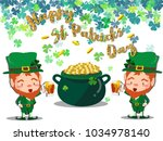 happy saint patrick's day... | Shutterstock .eps vector #1034978140