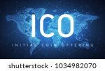 ico initial coin offering... | Shutterstock . vector #1034982070