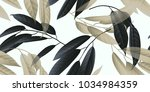 seamless pattern  black and... | Shutterstock .eps vector #1034984359