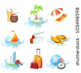 travel icons symbol collection. ... | Shutterstock .eps vector #103498598