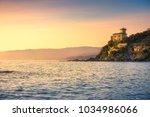 castiglioncello coast  cliff... | Shutterstock . vector #1034986066