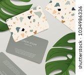 beautiful terrazzo pattern on... | Shutterstock .eps vector #1034986336