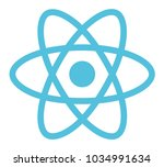 react logo vector illustration.