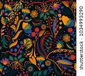 floral seamless pattern. hand... | Shutterstock .eps vector #1034993290