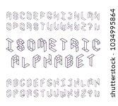isometric capital letters of... | Shutterstock .eps vector #1034995864
