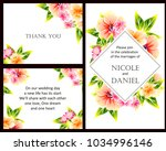 invitation with floral... | Shutterstock . vector #1034996146
