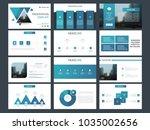 blue presentation template.... | Shutterstock .eps vector #1035002656