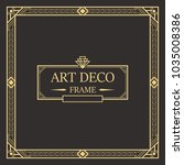 art deco border and frame.... | Shutterstock .eps vector #1035008386