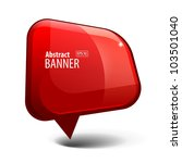 shiny gloss red banner | Shutterstock .eps vector #103501040