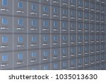 filing cabinet on white... | Shutterstock . vector #1035013630