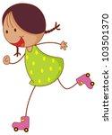 Illustration Of A Roller Girl   ...