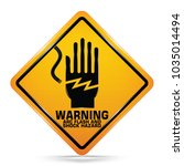 arc flash and shock hazard... | Shutterstock .eps vector #1035014494