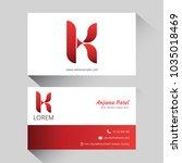 letter k logo corporate... | Shutterstock .eps vector #1035018469