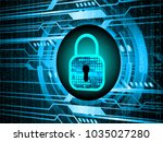 safety concept  closed padlock...   Shutterstock .eps vector #1035027280